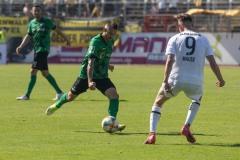 1. Spieltag 2021/2022: Preußen Münster - Alemannia Aachen 2:1. Joshua Holtby am Ball.
