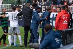 10. Spieltag: Preußen Münster - FC Bayern München II. Diskussionen nach dem 3:0.