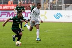 10. Spieltag: Preußen Münster - FC Bayern München II. Seref Özcan im Vorwärtsgang.