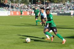 11. Spieltag: SC Preußen Münster - Fortuna Düsseldorf II 2:0. Henok Teklab am Ball.