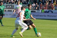 11. Spieltag: SC Preußen Münster - Fortuna Düsseldorf II 2:0. Marcel Hoffmeier am Ball.