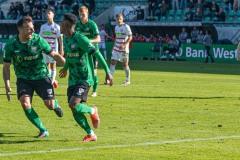 11. Spieltag: SC Preußen Münster - Fortuna Düsseldorf II 2:0. Henok Teklab verwandelt einen Elfmeter zum 1:0.
