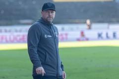 11. Spieltag: SC Preußen Münster - Fortuna Düsseldorf II 2:0. Preußen-Trainer Sascha Hildmann.