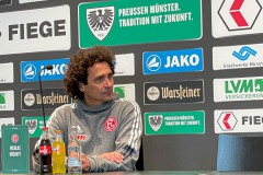 11. Spieltag: SC Preußen Münster - Fortuna Düsseldorf II 2:0. Gästetrainer Nicolas Michaty.