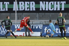 FSV Zwickau gegen Preußen Münster 23.11.2019 Foto: S. Sanders  Elias Huth macht das 4:1