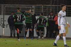 19. Spieltag: Preußen Münster - 1. FC Magdeburg 2:0. Torjubel mit Botschaft: Rufat Dadashov.