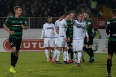 19. Spieltag: Preußen Münster - 1. FC Magdeburg 2:0. Ole Kittner (links).