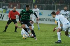 19. Spieltag: Preußen Münster - 1. FC Magdeburg 2:0. Heinz Mörschel am Ball - gleich trifft er zum 2:0.