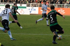 20. Spieltag: Preußen Münster - TSV 1860 München 0:1. Julian Schauerte legt ab auf Luca Schnellbacher...