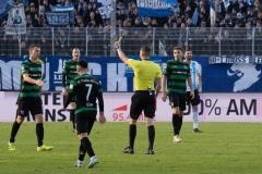 20. Spieltag: Preußen Münster - TSV 1860 München 0:1. Gelbe Karte gegen Ole Kittner mit Folgen - später sah er Gelb-Rot.