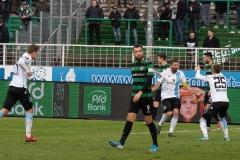 20. Spieltag: Preußen Münster - TSV 1860 München 0:1. Jubel nach dem 1:0 durch Sascha Mölders.