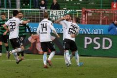 20. Spieltag: Preußen Münster - TSV 1860 München 0:1. Jubel nach dem 1:0.