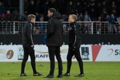 20. Spieltag: Preußen Münster - TSV 1860 München 0:1. Sören Weinfurtner, Malte Metzelder und Kieran Schulze-Marmeling (v.l.).