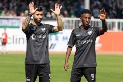 5. Spieltag 2021/2022: Preußen Münster - SV Rödinghausen 0:0. Manuel Farrona Pulido und Henok Teklab.