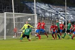 5. Spieltag: Wuppertaler SV - Preußen Münster. Chance für den SCP durch Alexander Langlitz.