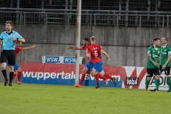 5. Spieltag: Wuppertaler SV - Preußen Münster. Marco Königs trifft zum 1:0 gegen den SCP.