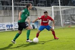 5. Spieltag: Wuppertaler SV - Preußen Münster. Julian Schauerte am Ball.