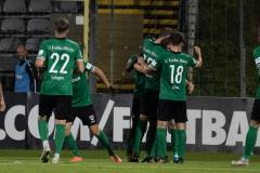 5. Spieltag: Wuppertaler SV - Preußen Münster. Jubel nach dem 1:1.