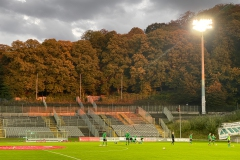 5. Spieltag: Wuppertaler SV - Preußen Münster. Abendstimmung im Stadion am Zoo.