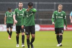 1. FC Köln U21 - Preußen Münster 03.10.2020 Foto: S. Sanders  Osman Atilgan (Münster)