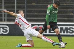 1. FC Köln U21 - Preußen Münster 03.10.2020 Foto: S. Sanders  Georg Strauch, Osman Atilgan (Münster)