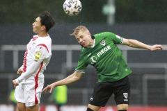 1. FC Köln U21 - Preußen Münster 03.10.2020 Foto: S. Sanders  Jae-Hwan Hwang, Niklas Heidemann (Münster)