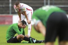 1. FC Köln U21 - Preußen Münster 03.10.2020 Foto: S. Sanders  Osman Atilgan (Münster) hätte das Spiel mehrmals enzscheiden können.
