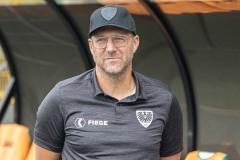 7. Spieltag 2021/2022: Preußen Münster - RW Essen 2:3. Sascha Hildmann.
