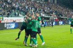 7. Spieltag 2021/2022: Preußen Münster - RW Essen 2:3. 7. Spieltag 2021/2022: Preußen Münster - RW Essen 2:3. Thorben Deters jubelt nach seinem 2:0.