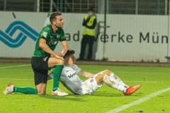 7. Spieltag 2021/2022: Preußen Münster - RW Essen 2:3. Dennis Daube.