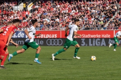 9. Spieltag: Hallescher FC gegen Preußen Münster. Rufat Dadashov im Vorwärtsgang - hier bekommt er die Riesenchance zum 2:0.