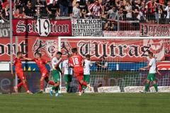 9. Spieltag: Hallescher FC gegen Preußen Münster. Ausgleich für Halle.