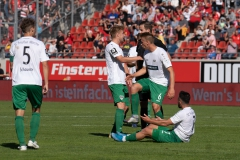 9. Spieltag: Hallescher FC gegen Preußen Münster. Halle ging nicht zimperlich zur Sache.