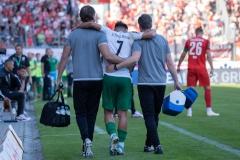 9. Spieltag: Hallescher FC gegen Preußen Münster. Seref Özcan muss raus.