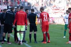 9. Spieltag: Hallescher FC gegen Preußen Münster. Debatten zwischen Halle und Schiris.