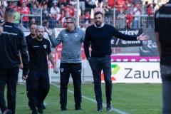 9. Spieltag: Hallescher FC gegen Preußen Münster. Münster weiß nicht, warum debattiert wird.
