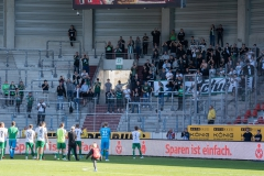 9. Spieltag: Hallescher FC gegen Preußen Münster. Dank der Fans.