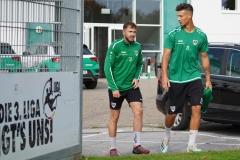 Preußen-Training am 14. Oktober 2019. Lucas Cueto und Heinz Mörschel (v.l.).