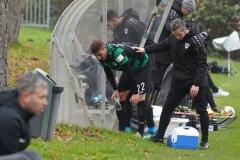 Testspiel Jong FC Utrecht - Preußen Münster (1:4). Okan Erdogan nach einem Foul an ihm.