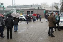Auftakttraining beim SC Preußen Münster am 4. Januar 2020. Rund 50 bis 60 Zaungäste schauten zu.