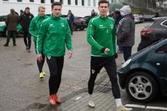 Auftakttraining beim SC Preußen Münster am 4. Januar 2020. Niklas Heidemann, Dominik Klann und Alexander Rossipal (v.l.).