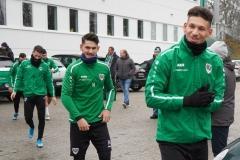 Auftakttraining beim SC Preußen Münster am 4. Januar 2020. Ugur Tezel und Heinz Mörschel.
