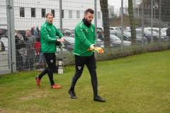 Auftakttraining beim SC Preußen Münster am 4. Januar 2020. Die Torhüter Max Schulze Niehues und Oliver Schnitzler.