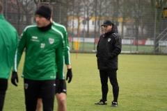 Auftakttraining beim SC Preußen Münster am 4. Januar 2020. Trainer Sascha Hildmann.