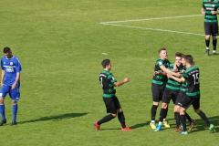 Oberliga Westfalen, 4. Spieltag: Preußen U23 gegen Westfalia Herne 2:0. Jubel nach dem 2:0.