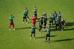Oberliga Westfalen, 4. Spieltag: Preußen U23 gegen Westfalia Herne 2:0. Freude nach Abpfiff.