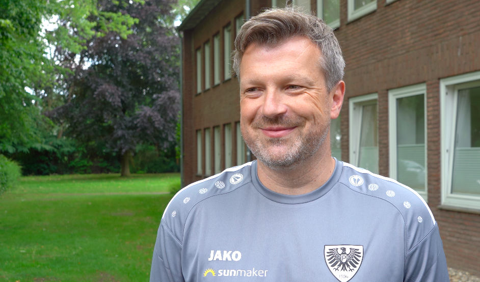 Preußen-Trainer Sven Hübscher. Foto: Schulte