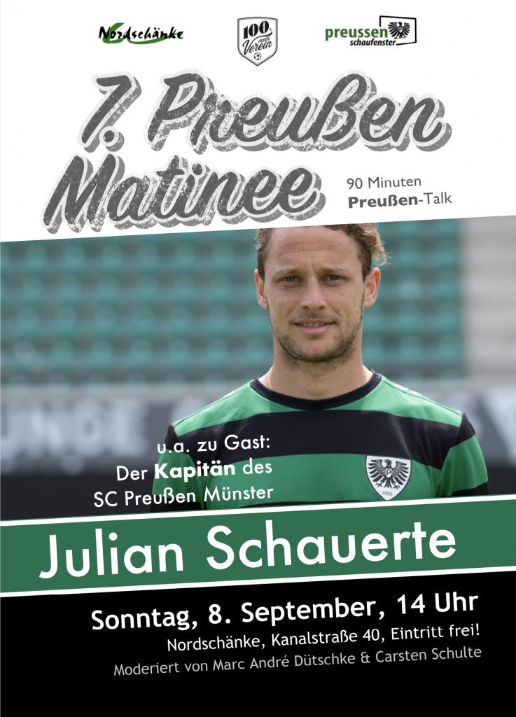 Die 7. Preußen-Matinee am 8. September 2019 um 14 Uhr.