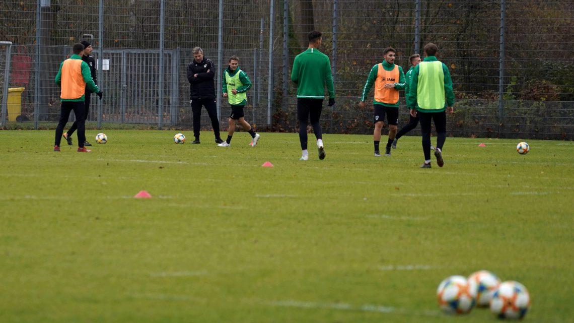 Preußen-Training am Dienstagmorgen mit Sven Hübscher.