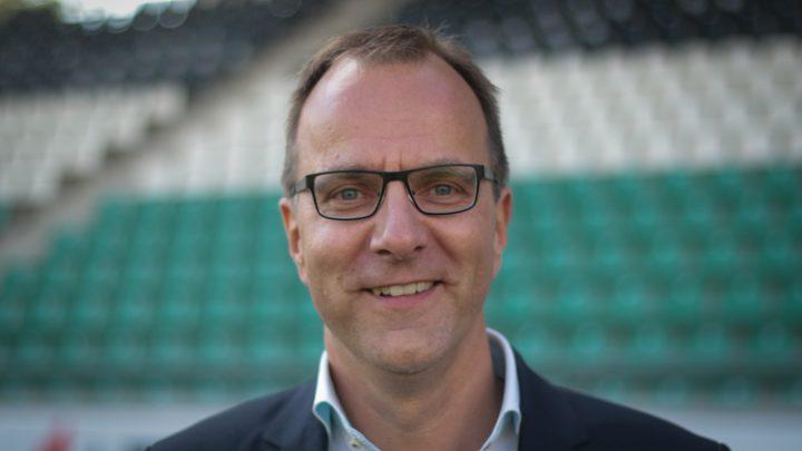 Georg Krimphove, hier am Tag seiner Vorstellung als Präsident des SC Preußen Münster. Foto: Schulte